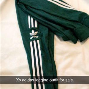 Adidas leggings and shirt set